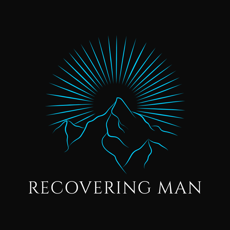 Recovering Man addiction recovery and men's personal growth logo